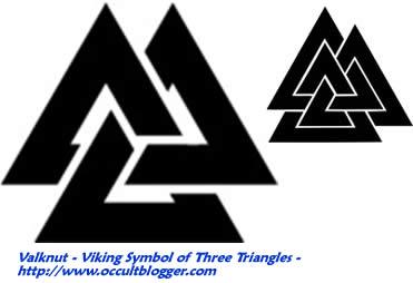 Upside Down Triangle Meaning >> Valknut Viking Symbol Of Three Interlocking Triangles